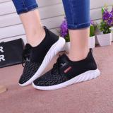 Toko Sepatu Kasual Wanita Leyi Sejuk Kain Jala Hitam International Lengkap Tiongkok