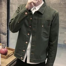 Situs Review Leyi Men S Fashion Cowboy Coat Of Cultivate One S Morality Army Green Intl