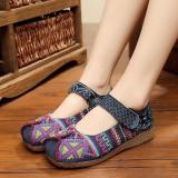 Jual Leyi Beijing Tua Klasik Cross Stitch Terjepit Sepatu Kain Biru International Tiongkok Murah