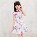 Spesifikasi Leyi Topi Baseball Kap Gadis Kecil Anak Anak Cina Cheongsam Floral Gaun Perempuan Anak Angin Slim Rok Pink Intl Leyi Terbaru