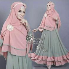 Ladies Fashion Baju Gamis / Gamis Lebaran / Gamis Polos / Syari Wanita EYYA Polos (LLABE) 1N - Hijau ( Dapat Jilbab ) / Hijab Muslimah / Baju Muslimah Wanita / Syari Syari'i Muslim / Gaun Muslim / Long Dress Muslimah Wanita