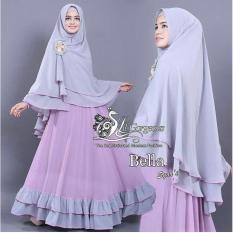 LF Baju Gamis / Dress Muslim Syari / Gamis Lebaran (LLABE) 1N - Lavender ( Dapat Jilbab ) / Hijab Muslimah / Baju Muslimah Wanita / Syari Syari'i Muslim / Gaun Muslim / Long Dress Muslimah Wanita