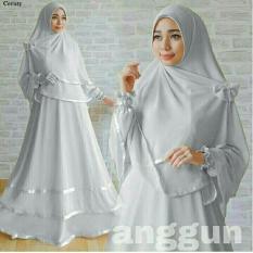 LFashion Gamis GRATIS HIJAB bisa Busui / Set Terusan Maxi / Syari Simple Elegant / Baju Muslim Wanita / Kebaya Modern (ggunan) 1N - Abu /Hijab Muslimah / Baju Muslimah Wanita / Syari Syari'i Muslim / Gaun Muslim / Long Dress Muslimah Wanita