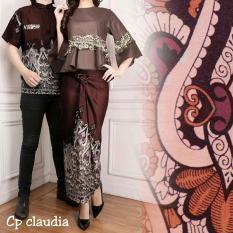 Ladies Fashion Couple Kemeja Batik Pria Muslim Kebaya KutuBaru Modern Dress Batik Pasangan Mira 3in1 Rok Lilit Blouse Wanita (audiacl) 7T - Coklat / / Kebaya Modern / Dress Gamis Pesta / Kemeja lengan pendek / Pakaian Muslim