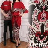 Jual Lf Kemeja Pria Traditional Couple Gamis Muslim Kebaya Dress Wanita Batik Pasangan Set Muslim Liade Ak Maroon Termurah