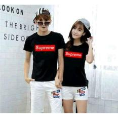Harga Lf Kaos Couple Lengan Pendek Supreme Couple Kaos Oblong Tshirt Wanita Combed Kaos Pasangan Tshirt Pasangan Pakaian Kembar Lc Hitam A0118 D3C Termurah