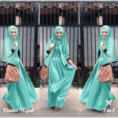 Spesifikasi Lf Setelan 3 In 1 Vani Baju Jaket Pasminah Hem Cewek Baju Muslim Baju Set Wanita Baju Rubiah Import Wne Niava Ss Tosca