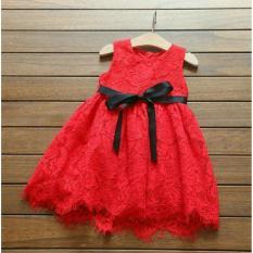 Baju Anak Satu Stel / Dress anak / Setelan  Anak Wanita Lucu Giselle / Dress Wanita / Usia 3 - 5 Tahun / Baju Setelan  Imut NV (eselli) - Merah D2C