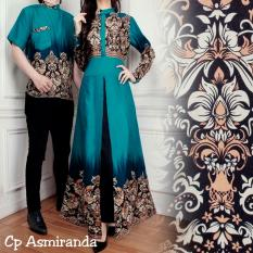 Ladies Fashion Batik Pasangan Wanita dan Pria / Batik Wanita / Batik Pria / Kemeja Pria Gamis Muslim / Kebaya Dress Wanita Batik Pasangan/ Set Muslim (mirandaas) AK - Tosca D1C