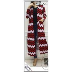 Harga Lf Cardigan Panjang Eliz Long Cardi Baju Luaran Jaket Muslim Ak Nglo Rdyca Maroon Baru
