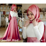 Promo Lf Dress Gamis Muslimah Jemila Set Terusan Maxi Hijab Gamis Syar I Syari Simple Elegant Baju Muslim Wanita Kebaya Modern Cotton Milahja Ss Peach Free Pasminah D2C