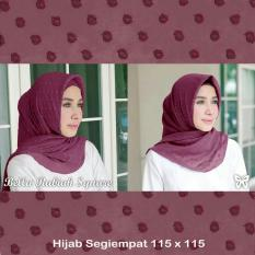 Ladies Fashion Hijab Modern / Hijab Bela / hijab Rubiah / Hijab Syari Syari Polos Intant Print /Jilbab Square pasminah / Kerudung Segi Empat Rubiah import SS (llabe) - Maroon D2C