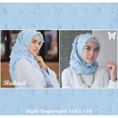Beli Lf Hijab Trend 2017 Ruby Hijab Syari Syar I Polos Intant Print Jilbab Square Pasminah Kerudung Segi Empat Rubiah Import Ss Biahru Biru Muda D2C Cicilan