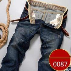 Spek Celana Musim Panas Tipis Bagian Jeans Lurus Pria Casual Casual Loose Loosetrend Celana Korea Pria 0087 Intl Oem