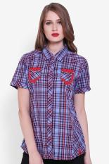 LGS  Women Clothing Tops Blouses & Shirts  Wanita Busana Atasan Blus & Kemeja Multicolor Kombinasi Diskon discount murah bazaar baju celana fashion brand branded