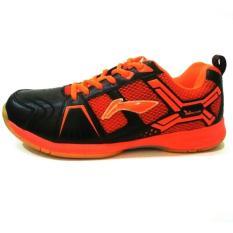 Li Ning Cross Sepatu Badminton - Black/Orange