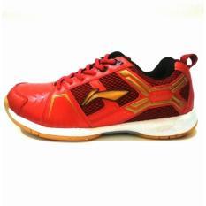 Li Ning Cross Sepatu Badminton - Red/Gold