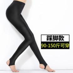 Review Pada Celana Capri Wanita Dipertebal Ditambah Beludru Model Tipis Pinggang Tinggi Elastis Berkilau Langkah Kaki Mengkilap Celana 90 150 Pon Bisa Memakai