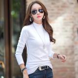 Harga Musim Gugur Dan Musim Dingin Tambah Beludru Warna Solid Perempuan T Shirt Baju Dalaman Putih