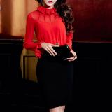 Jual Liar Musim Gugur Baru Temperamen Flounced Dress Merah Dan Hitam Baju Wanita Dress Wanita Gaun Wanita Oem Branded