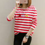 Spesifikasi Looesn Kapas Baru Musim Semi Dan Musim Gugur Pakaian Luar Shishang T Shirt Merah Paling Bagus