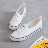 Beli Wild Female New Style Student Breathable Canvas Shoes White Shoes Putih Sepatu Wanita Sepatu Sport Sepatu Sneakers Wanita Kredit Tiongkok