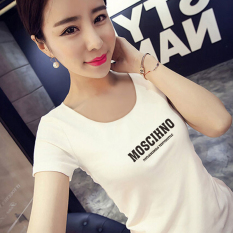 Jual Xianyuansu Kaos Wanita Pas Badan Motif Cetak Tulisan Lengan Pendek Banyak Warna 497 Putih Baju Wanita Baju Atasan Kemeja Wanita Oem Grosir