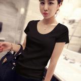 Jual Versatile New Style Korean Style White T Shirt Top 560 Hitam Ori