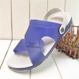 Tips Beli Wild Soft Bottom Men S Jelly Shoes Summer Men Sandals Biru Navy Yang Bagus