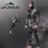 Spesifikasi Lifurious 3Mm Neoprene Dua Piece Professional Wetsuits Pria Pakaian Menyelam Split Scuba Snorkel Surfing Spearfishing Jumpsuit Peralatan Lengkap