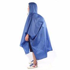 Jual Ringan Raincoat Rain Cape Ponco Tas Ransel Posisi Biru Tiongkok