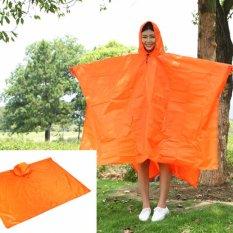 Harga Ringan Raincoat Rain Cape Ponco Tas Ransel Posisi Orange Intl Asli