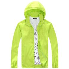 Review Ringan Jas Hujan Aktif Outdoor Hoodie Bersepeda Menjalankan Jaket Windbreaker Hijau Neon Intl Tiongkok