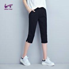Spesifikasi Likener Trend Kasual Betis Panjang Lutut Celana Ukuran Better Dengan Garis Panjang Hitam Terbaik