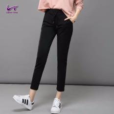 Beli Likener Trend Celana Harem Wanita Lembut Dan Nyaman Pergelangan Kesemek Panjang Celana Hitam Cicilan