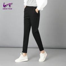 Harga Likener Trend Ikat Elastis Harem Celana Panjang Penuh Wanita Kasual Peregangan Ngap Ngap Ukuran Lebih Baik Hitam Likener Trend Terbaik