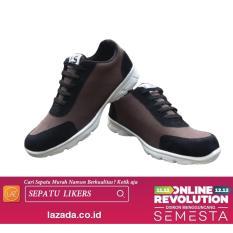 Likers Sepatu Sneaker Pria - Brown / Sepatu Sneaker / Sepatu sport / sepatu safety / sepatu casual pria / sepatu boots pria / sepatu putih / Sepatu olahraga / sepatu karet / sepatu cowok / sepatu sekolah / sepatu kuliah / Sepatu kulit pria / slip on