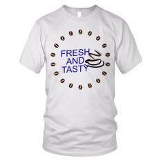 limosin-kaos distro-kaos dtg Fresh and Tasty - Putih