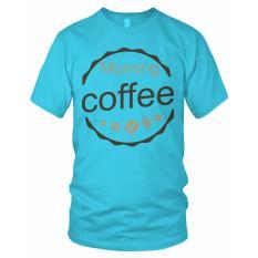 Limosin-kaos distro-kaos dtg Morning Coffee - Biru Baby