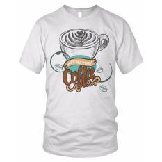 limosin-kaos distro-kaos dtg Nikmat Coffee - Putih