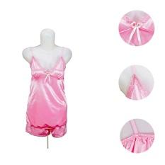 Lingerie  Renda Tali Satin TSC Fashion Baju Tidur + Celana Sexy Wanita Silk Satin