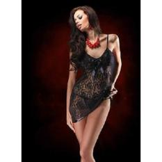 Lingerie Sexy Babydoll Nightwear Dress Hitam Bisa Big Size 089