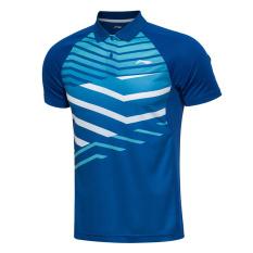 Lapisan AAYL031 Him Kering Pria Permainan Lengan Bang Pendek Kebugaran Kaus Bulu Tangkis Pakaian (Biru