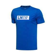 Diskon Lining Ahsm175 1 2 4 5 Pelatihan Pria Lengan Pendek Leher Bulat T Shirt T Shirt Biru Lining