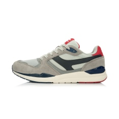 Lapisan Retro Peredam Guncangan Memakai Olahraga Sepatu Sepatu Santai (Abu-abu/Biru Tua Biru/Phoenix Hong)