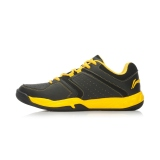 Promo Lining Aytk077 Bernapas Bantalan Musim Panas Sepatu Pelatihan Bernapas Sepatu Sepatu Bulu Tangkis Hitam Kuning Yao Lining Terbaru