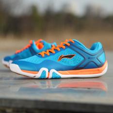LINING ditempelkan ke tanah AYTM039 bernapas memakai non-slip sepatu olahraga sepatu pria (Dasar Biru)