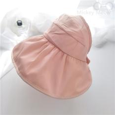 Jual Lipat Matahari Topi Topi Uv Matahari Topi Visor Kulit Merah Muda Untuk Mengirim Tali Angin Online Tiongkok