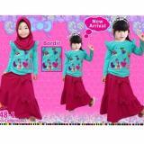 Toko Little Pineapple 3In1 Setelan Kaos Hijab Rok Lovi Poni Moslem Gamis 3 8Taun Termurah Di Jawa Barat