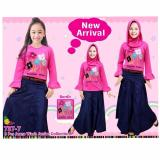 Jual Little Pineapple 4In1 Setelan Hijab Rok Jeans Flower Bohemian Anak 5 10Y Branded
